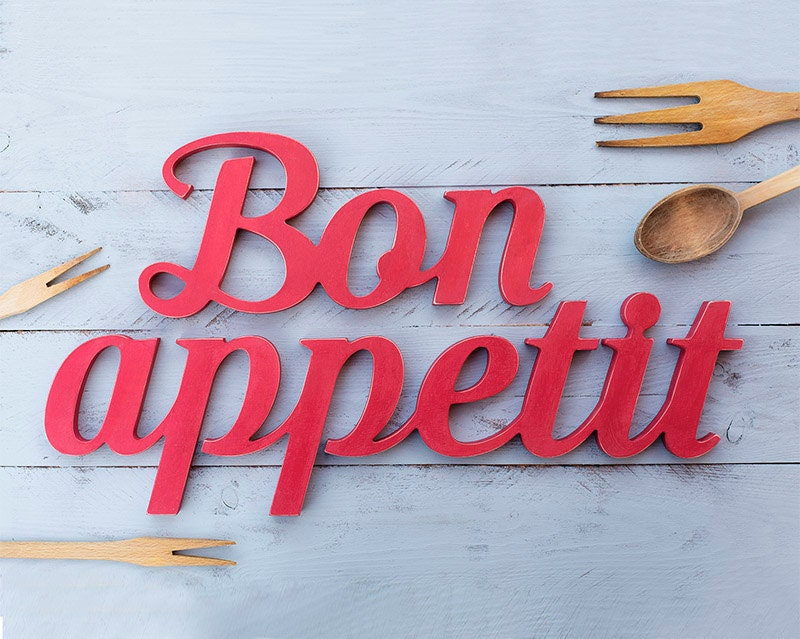 Bon appetit sign wooden sign kitchen decor restaurant bar