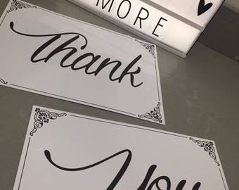 Thank you cards - Wedding photo thank you props