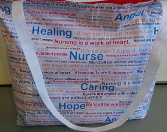 Nurse's terms of endurment, Medical Tools, Reusable Farmers Market / Grocery / Shopping Bag / Tote