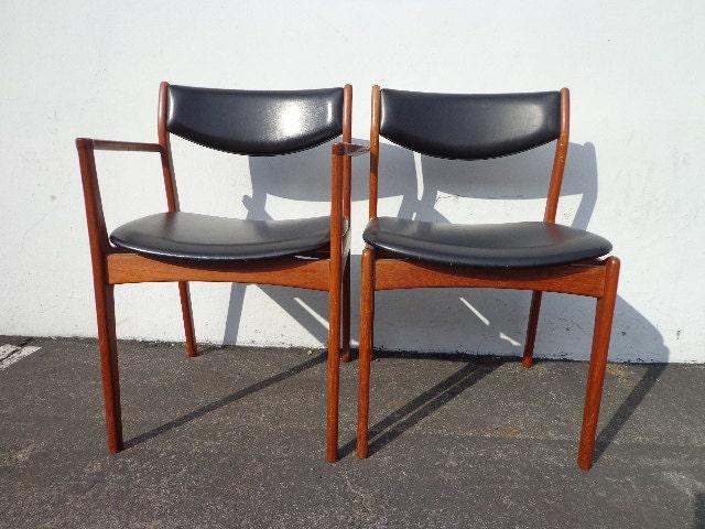 2 Chairs Danish Modern Erik Buch Mid Century Denmark Eames