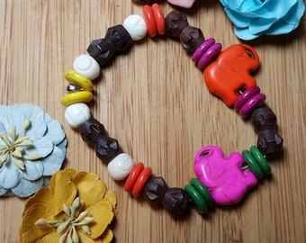 Elephant Wood Bracelet