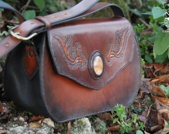 Handbag leather vegetable tanned - Forest Spirit