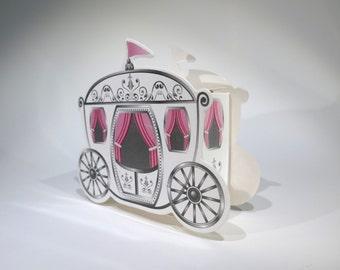 "50pc ""carriage"" wedding favor boxes (D2)"