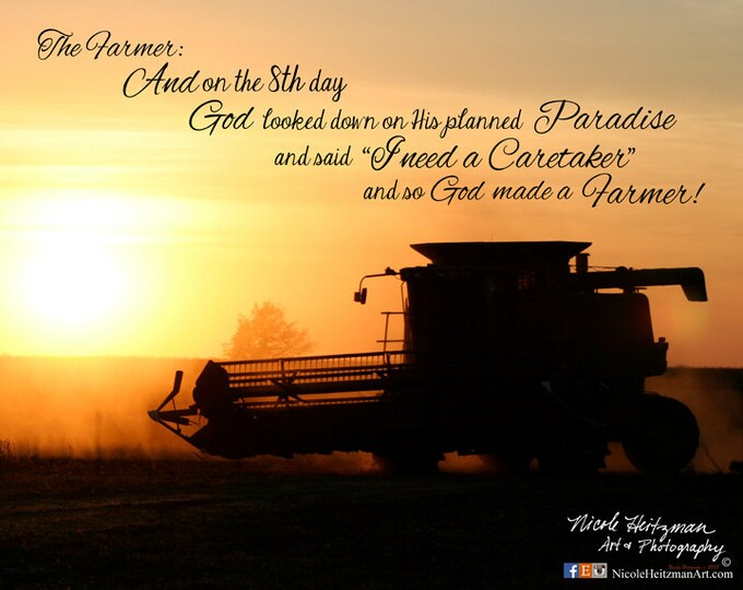 Gifts for Dad men International Combine Harvest Farm print Father's Day Gift Farm photography The Farmer Combining Photo Farm Sunset photo