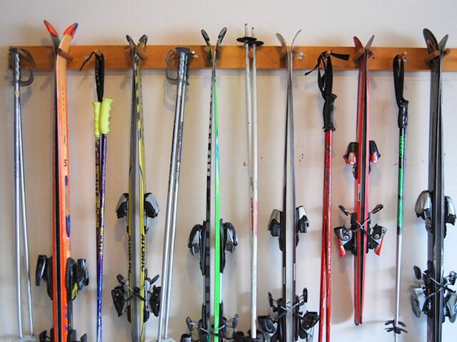6 ski wall rack for Rack pour garage