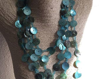 Blue Pearl Necklace and beads