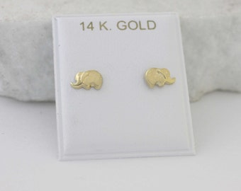 Etsy your place to buy and sell all things handmade elephant stud earrings 14k gold stud earrings 14k elephant stud earrings 14k solid freerunsca Images