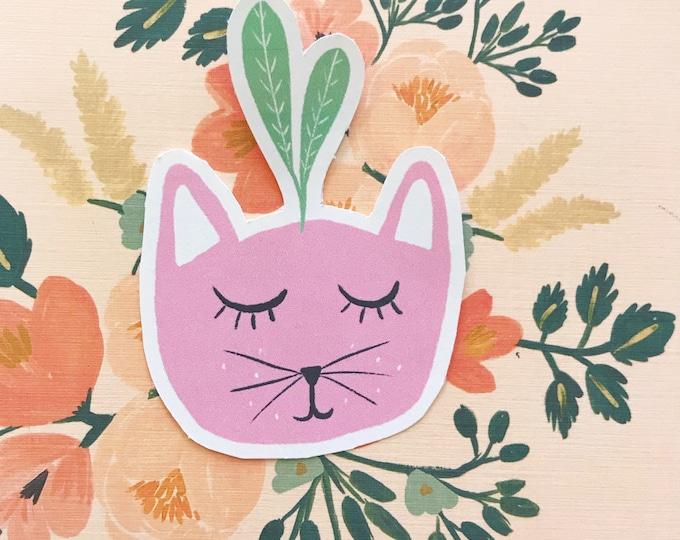 Pink Kitty Plant Die Cut