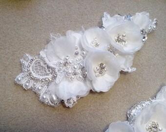 Lace Hair Comb | Silk Flowers Hair Comb | Bridal Lace Hair Comb | Bridal Flower Hair Comb | Wedding Lace Headpiece | Wedding Flower Comb