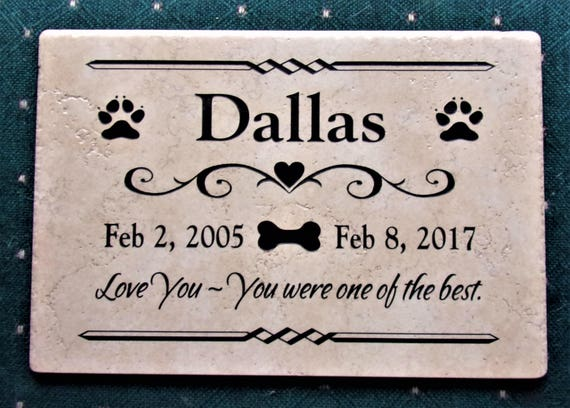 Pet Memorial 12x8 Weathered Italian Porcelain- Maintenance Free