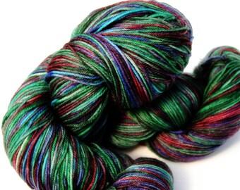 Summer Morning Colorway: 100 grams Handdyed Merino/Tencel/Nylon Fingering Weight Yarn, Hand Dyed Sock Yarn