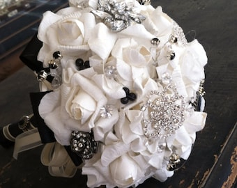 Brooch Bouquet/ Hand made/ Weddings/ prom/ dance/ flower girl/ maid of honor/ bride's maid