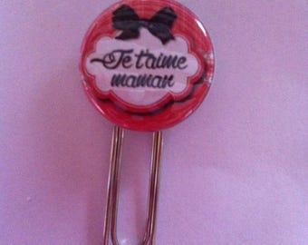 Very pretty paperclip bookmark I love you MOM
