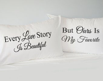 batman inspired his hers pillowcase set personalized
