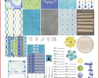 Bright Skies Ahead Happy Planner Printable Stickers