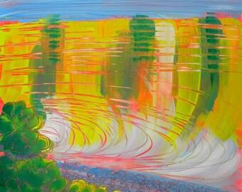 Clear Lake 4 original Oregon landscape oil painting