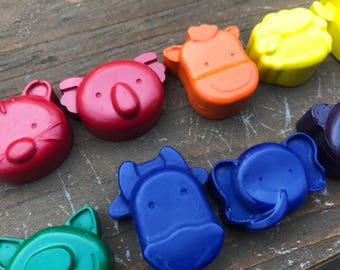 Kids Animal Crayons // Animal Crayons // Farm Crayons // Zoo Gift Bags // Zoo Crayons // Animal Birthday Party // Zoo Birthday Favors