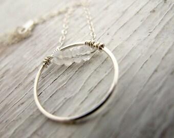 Moonstone Birthstone Pendant Necklace, April Birthday Gift, June Birthday Gift, Sterling Silver