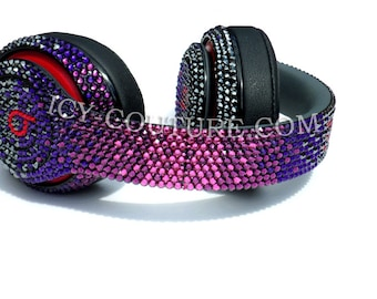 PURPLE COUTURE Ombre Crystal Bling BEATS by Dre with Swarovski Crystal