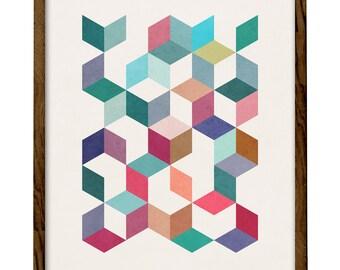 Geometric 5. Scandinavian print Geometric art print Mid century geometric art triangles print geometric print triangles poster. LD10010