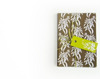 LAST SET: Botanical Nature Inspired Greetings Cards - Set of Four in Chocolate Brown