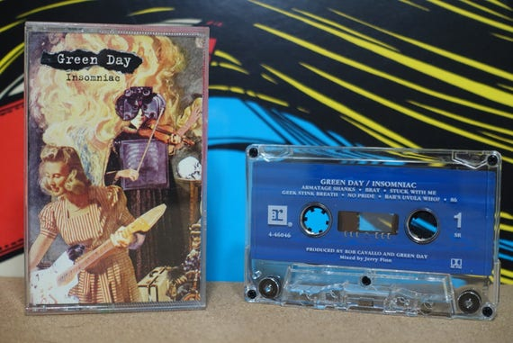 Insomniac by Green Day Vintage Cassette Tape