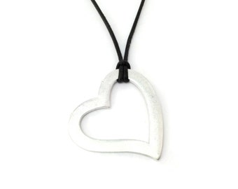 PURE heart silver necklace