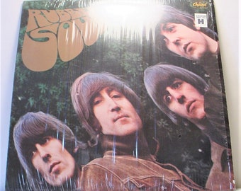 "The Beatles - Rubber Soul (1965), 12"" Vinyl LP Record Album, 1978 Reissue, Shrink, VG++, Purple Label Capitol SW-2442"