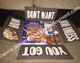 """Don't Want None Unless You Got """"Cinnabons"""" Hun! Military Care Package Flaps"""