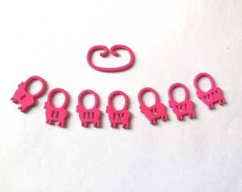Counting Sheep -- Pink 3D Printed Stitch Markers