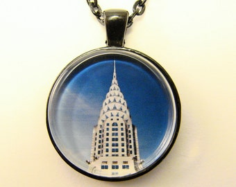 CHRYSLER BUILDING Necklace --  Art Deco Building from 1930s New York City, Archtecture and Design Art, William Van Alen designer