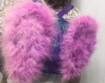 Backpack bag,Angel wing,purple backpack