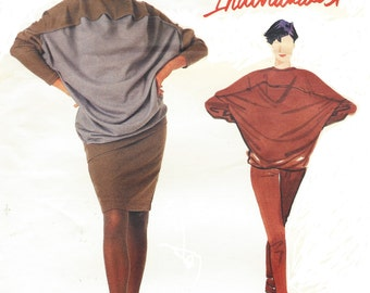 80s Rare Issey Miyake Womens Dolman Sleeve Top Skirt & Pants Vogue Sewing Pattern 2334 Size 12 14 16 Bust 34 36 38 FF Vogue Individualist