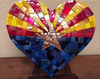 Arizona flag heart mosaic
