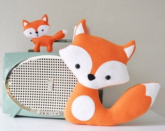 Plush Orange Foxes - Mommy and her Baby - READY TO SHIP