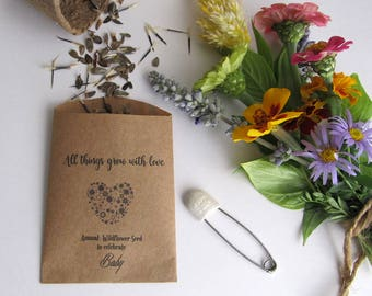Baby Shower Favors Seeds ~ Wildflower seeds etsy