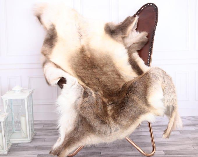 Reindeer Hide | Reindeer Rug | Reindeer Skin | Throw XXL EXTRA LARGE - Scandinavian Style #0RE20