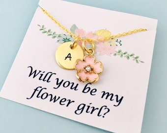 Miniature Bride Necklace Flower Girl Gift Will You Be My