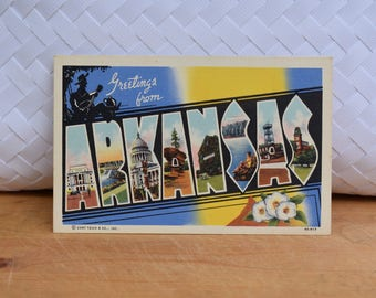 Vintage Arkansas Linen Postcard