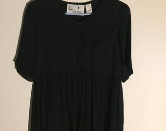 "Sheer black dress ""one size fits all"" sailor style"