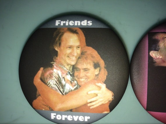 BUTTON - Davy's Angels Peter Tork Friends Forever Button