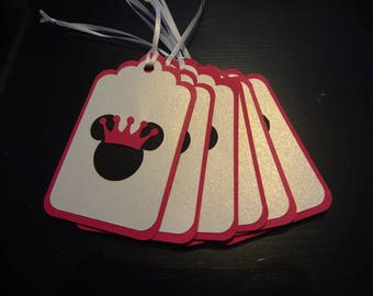 MINNIE Mouse Thank You cards, pink and black, 10 for 12.00