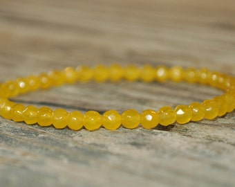 Solar Plexus Chakra Mala, Yellow Jade, 3rd Chakra, Gemstone Therapy, Crystal Healing, Yoga Bracelet, Meditation Bracelet, Reiki, Wish