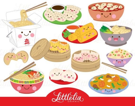 chinese food kawaii clipart food kawaii 17018 rh etsy com chinese food clipart black and white chinese food clipart images