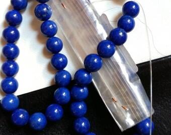 RANG DE BOULES Lapis Lazuli Naturel 10Mm