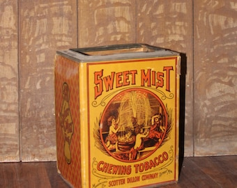 """11"""" Cardboard Sweet Mist Chewing Tobacco Container"""