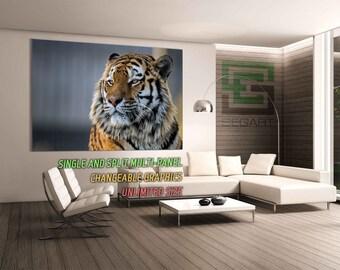 Tiger Print Giclee Print Canvas Alternative Wall Poster Large Print Canvas Print Wall Decoration multi panel art Canvas Art Art split art