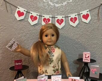 American Girl Doll size LOVE banner. (Sku K35,36,41)