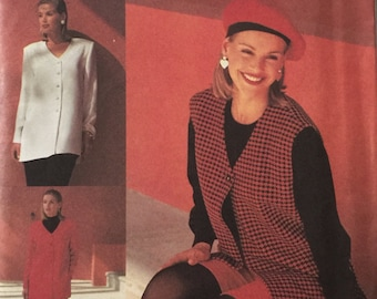 Simplicity 8554, Size 10-12-14-16, Misses' Pants or Shorts and Top or Vest Pattern, UNCUT, Vintage 1993, American Classics