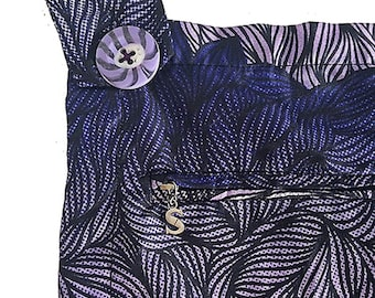 100% Cotton African Print Pattern Dungarees, Overalls